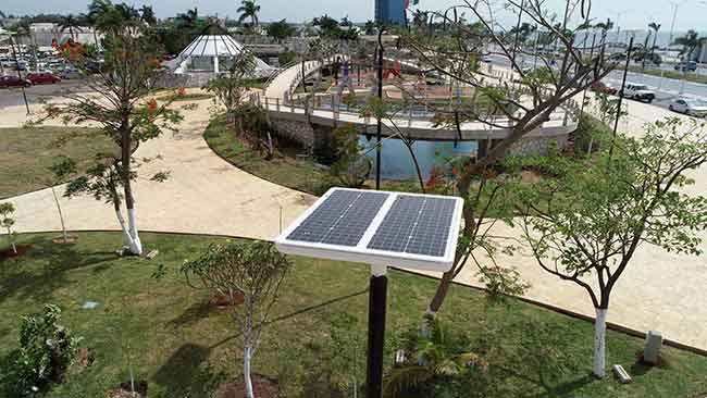 Unesco solar zone lighting