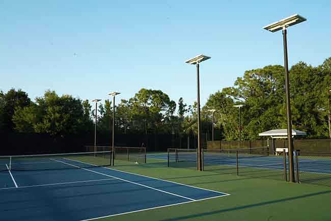 Floride tennis solar street light