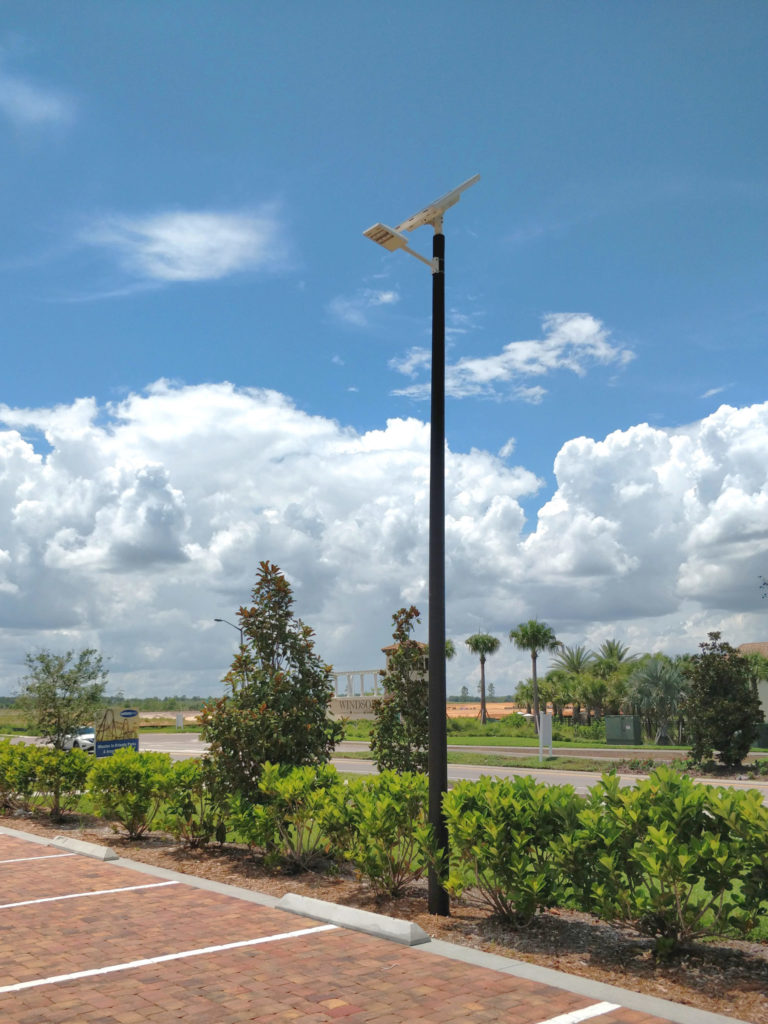 Solar Street lighting Solara Sales Center Mattamy Orlando Florida